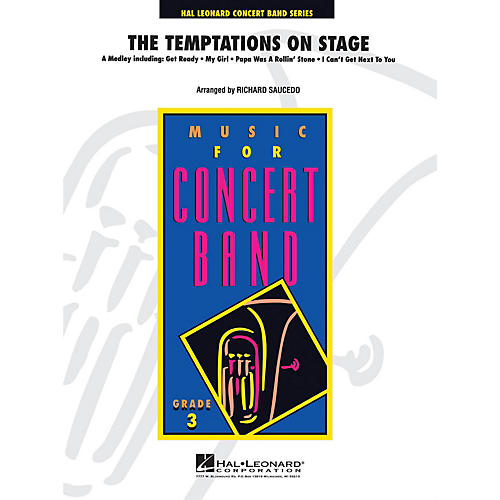 Hal Leonard The Temptations on Stage - Young Concert Band Level 3 by Richard Saucedo