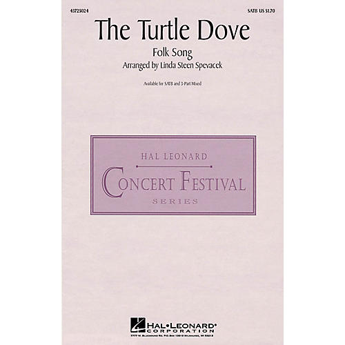 Hal Leonard The Turtle Dove 3-Part Mixed Arranged by Linda Spevacek