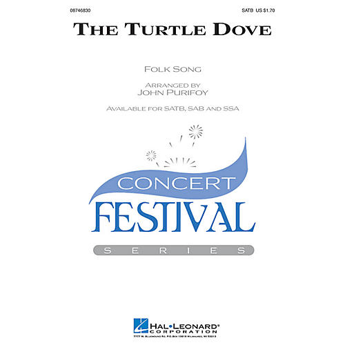Hal Leonard The Turtle Dove SATB arranged by John Purifoy