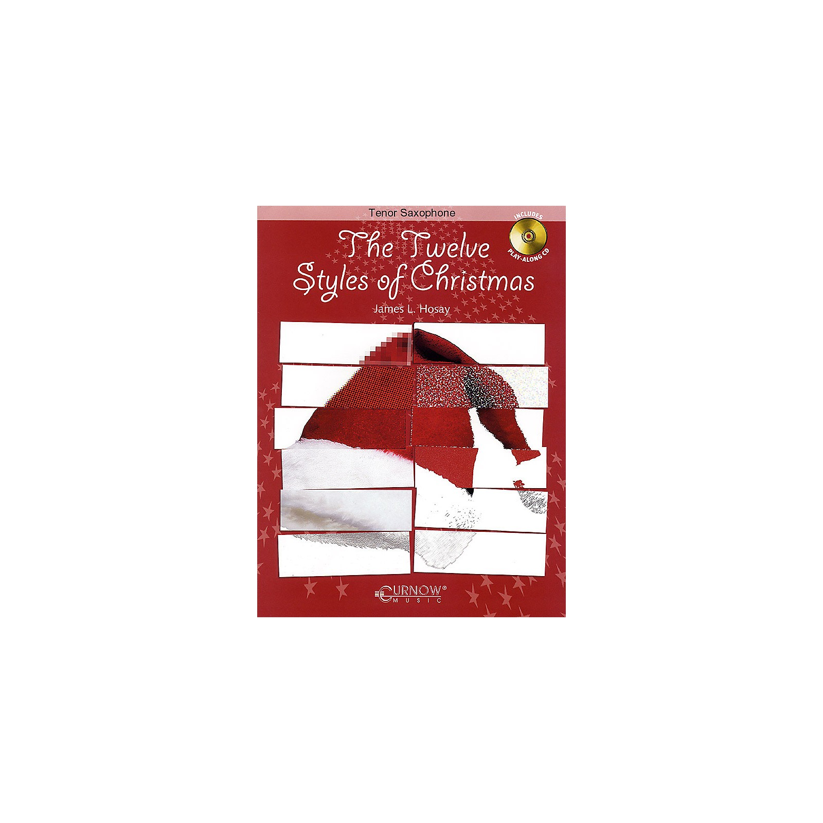 Curnow Music The Twelve Styles of Christmas (Bb Tenor Saxophone - Grade 2-3 - Book/CD Pack) Concert Band Level 2-3