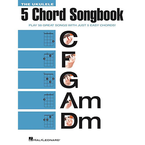 Hal Leonard The Ukulele 5 Chord Songbook (C-F-G-Am-Dm)