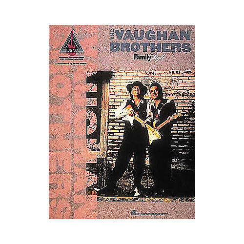 Hal Leonard The Vaughan Brothers Family Style Guitar Tab Book