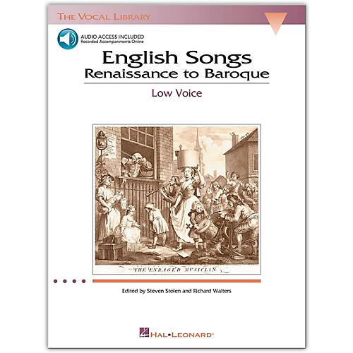 Hal Leonard The Vocal Library Series - English Songs: Renaissance To Baroque for Low Voice (Book/Online Audio)