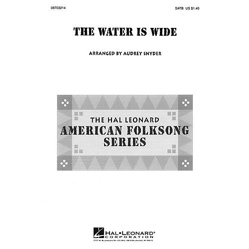 Hal Leonard The Water Is Wide SATB arranged by Audrey Snyder