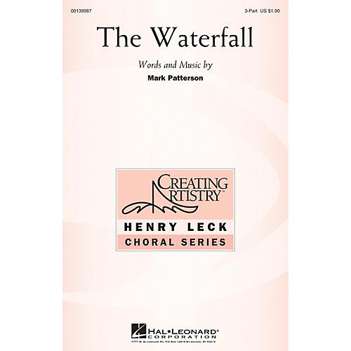 Hal Leonard The Waterfall 3 Part Treble composed by Mark Patterson