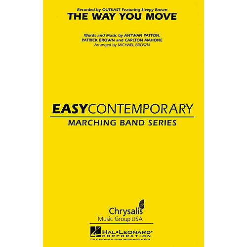 Hal Leonard The Way You Move Marching Band Level 2 Arranged by Michael Brown