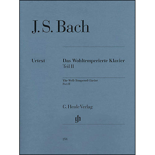 G. Henle Verlag The Well-Tempered Clavier, Part II BWV 870-893 By Bach