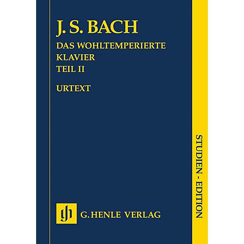 G. Henle Verlag The Well-Tempered Clavier, Part II BWV 870-893 Henle Study Score by Bach Edited by Ernst-Gunter Heinemann