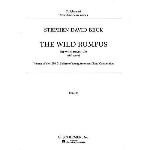 G. Schirmer The Wild Rumpus Cb Score Concert Band Concert Band