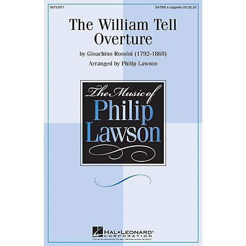 Hal Leonard The William Tell Overture SATTBB A Cappella arranged by Philip Lawson