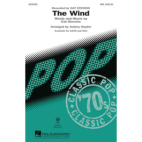 Hal Leonard The Wind SSA by Cat Stevens arranged by Audrey Snyder