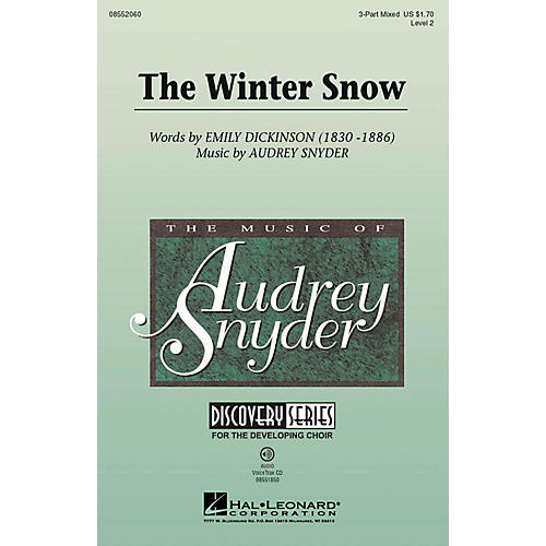 Hal Leonard The Winter Snow (Discovery Level 2) 3-Part Mixed composed by Audrey Snyder
