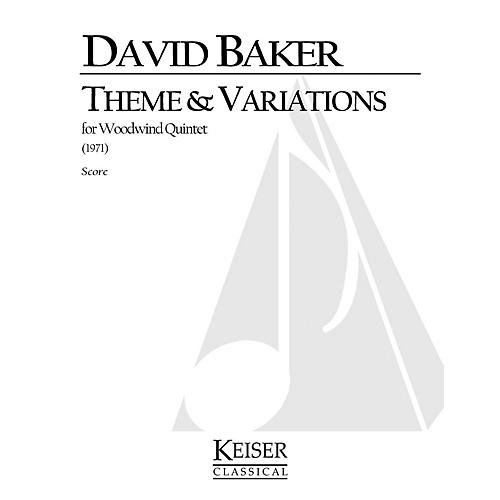 Lauren Keiser Music Publishing Theme and Variations for Woodwind Quintet LKM Music Series by David Baker