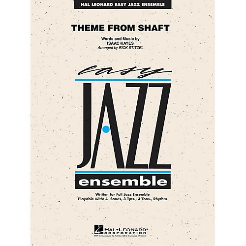 Hal Leonard Theme from Shaft Jazz Band Level 2 Arranged by Rick Stitzel