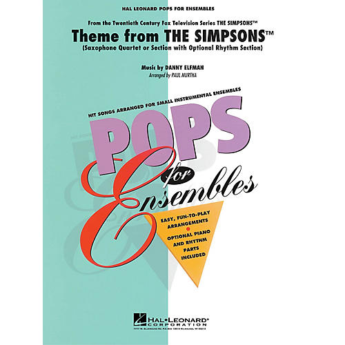 Hal Leonard Theme from The Simpsons Concert Band Level 2-3 Arranged by Paul Murtha
