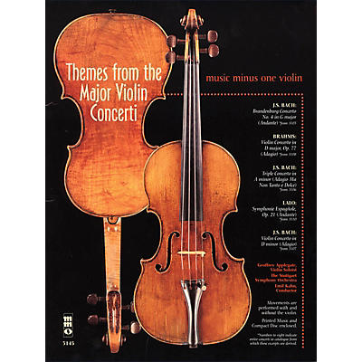 Music Minus One Themes from the Major Violin Concerti Music Minus One Series Softcover with CD Composed by Various