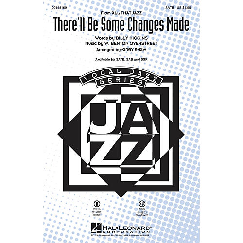 Hal Leonard There'll Be Some Changes Made SATB arranged by Kirby Shaw