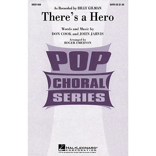 Hal Leonard There's a Hero 2-Part by Billy Gilman Arranged by Roger Emerson