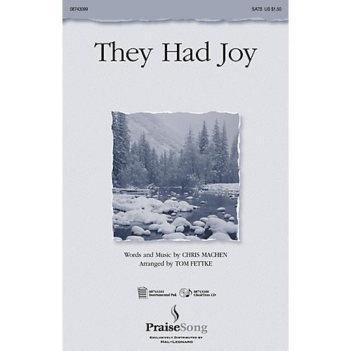 PraiseSong They Had Joy! (Instrumental Pak) IPAKO Arranged by Tom Fettke