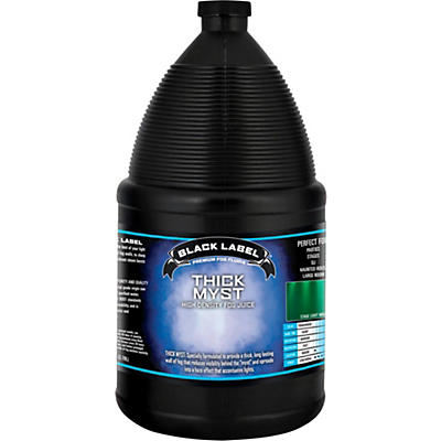 Black Label Thick Myst High Density Fog Juice - 1 Gallon