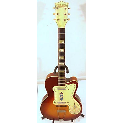 Silvertone Thin Twin Hollow Body Electric Guitar