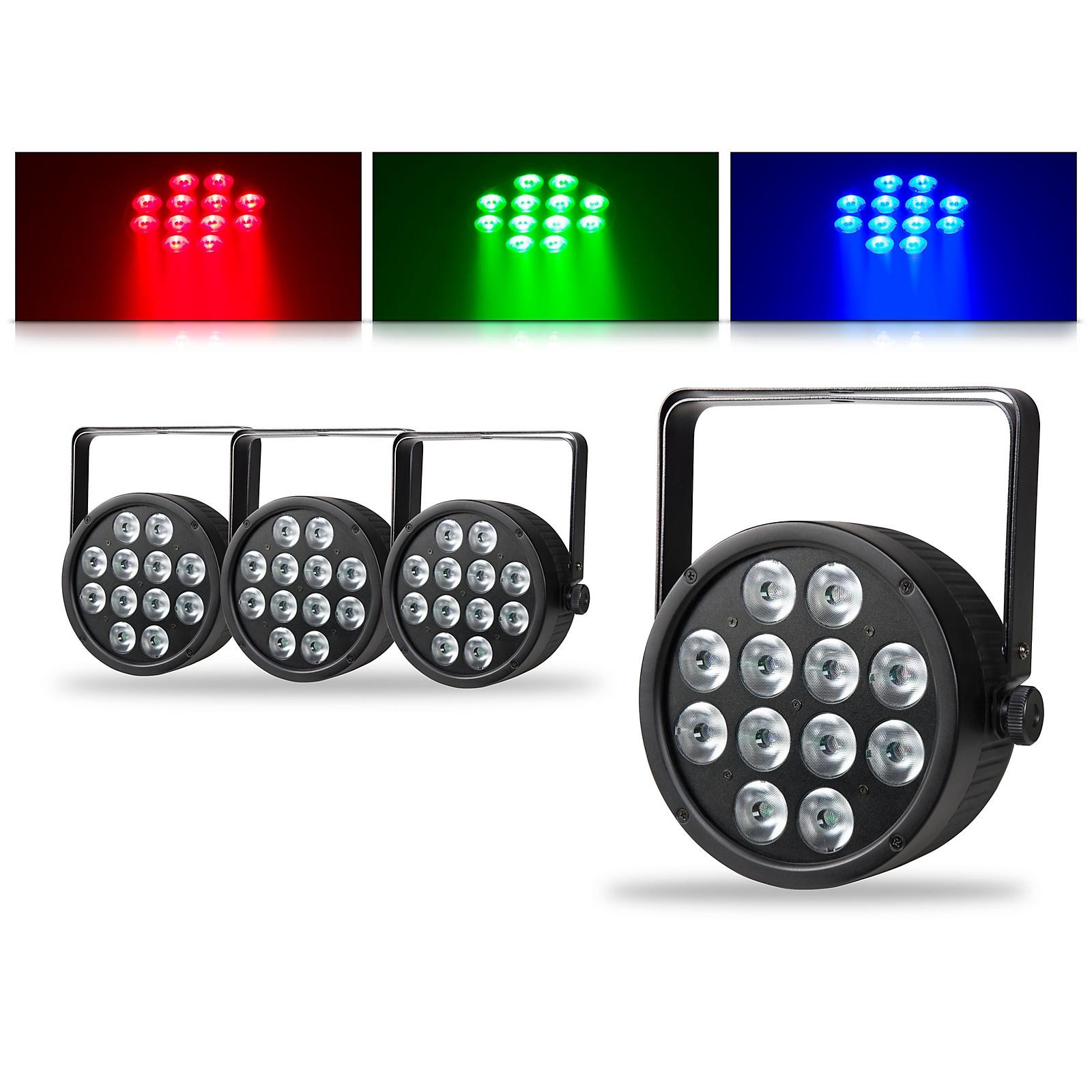 Proline ThinTri64 3W LED Stage Light 4 Pack