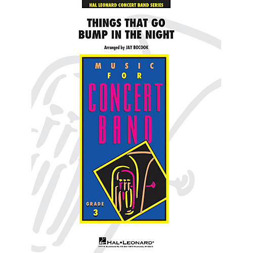 Hal Leonard Things That Go Bump In The Night - Young Concert Band Level 3 arranged by Jay Bocook