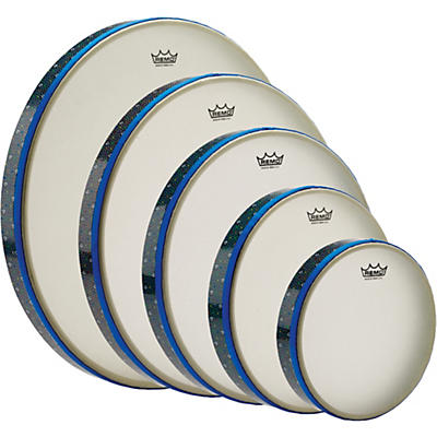 "Remo Thinline Frame Drum Full Set - 8"", 10"", 12"", 14"", 16"""