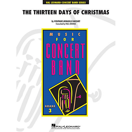 Hal Leonard Thirteen Days Of Christmas - Young Concert Band Level 3 arranged by Paul Jennings