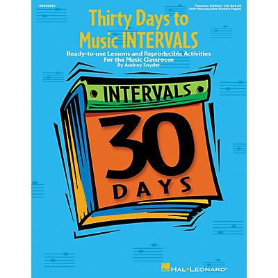Hal Leonard Thirty Days to Music Intervals