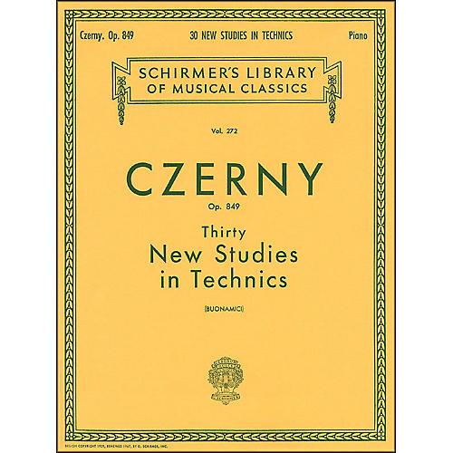 G. Schirmer Thirty New Studies In Technics Op 849 Etudes De Mecanisme 30 By Czerny