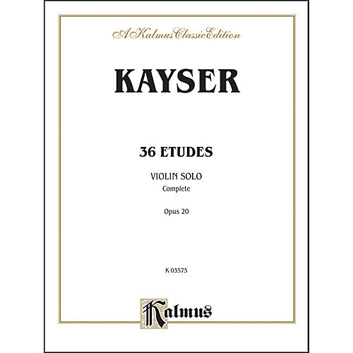 Alfred Thirty-six Etudes Op. 20