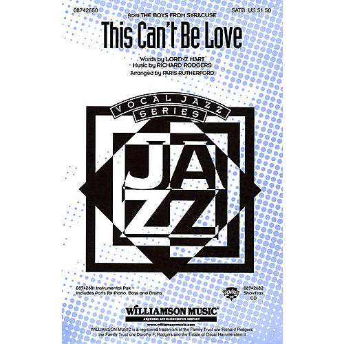 Hal Leonard This Can't Be Love (from The Boys from Syracuse) Combo Parts Arranged by Paris Rutherford