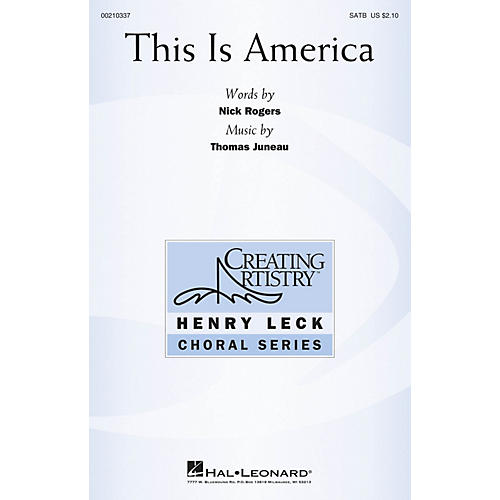 Hal Leonard This Is America SATB composed by Thomas Juneau