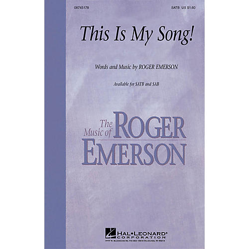 Hal Leonard This Is My Song! SAB Composed by Roger Emerson