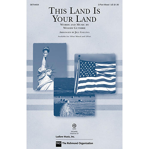 Hal Leonard This Land Is Your Land (Discovery Level 1) 3-Part Mixed arranged by Jill Gallina