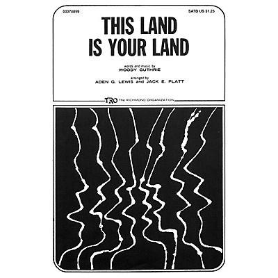 TRO ESSEX Music Group This Land Is Your Land TTBB Arranged by Jack E. Platt