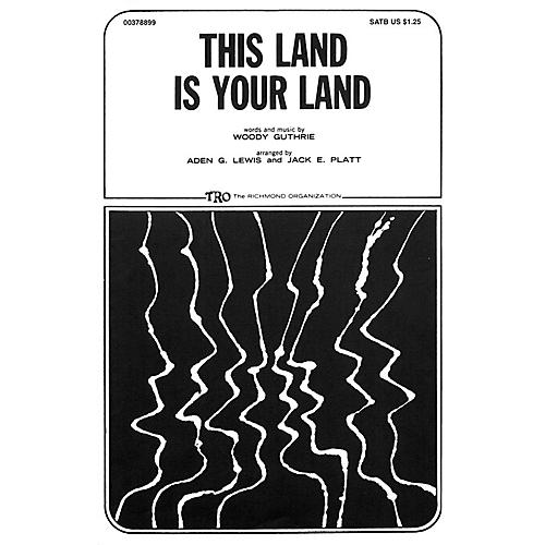 TRO ESSEX Music Group This Land Is Your Land TTBB Arranged by Jack E. Platt