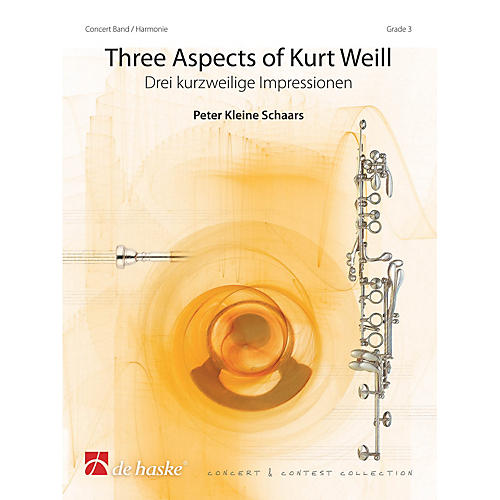 De Haske Music Three Aspects of Kurt Weill Concert Band Level 3 Arranged by Peter Kleine Schaars