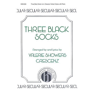 Hinshaw Music Three Black Socks UNIS composed by Valerie Crescenz
