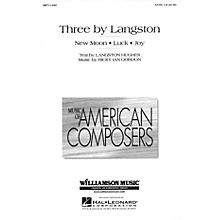 Hal Leonard Three By Langston (SATB) SATB composed by Ricky Ian Gordon