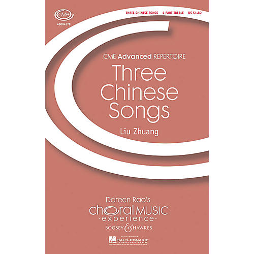 Boosey and Hawkes Three Chinese Songs (CME Advanced) SSAA A Cappella arranged by Liu Zhuang