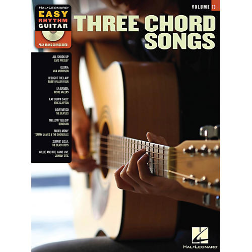 Hal Leonard Three Chord Songs (Easy Rhythm Guitar Volume 13) Easy Rhythm Guitar Series Softcover with CD by Various