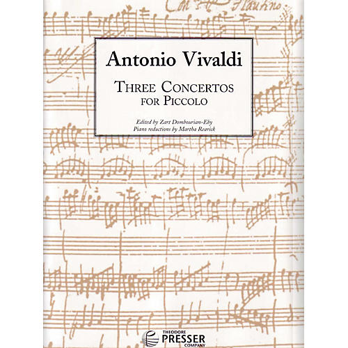 Carl Fischer Three Concertos For Piccolo Book