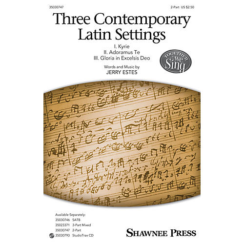 Shawnee Press Three Contemporary Latin Settings 2-Part composed by Jerry Estes