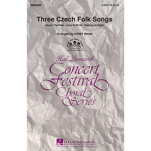Hal Leonard Three Czech Folk Songs (Collection) 2-Part arranged by Kirby Shaw