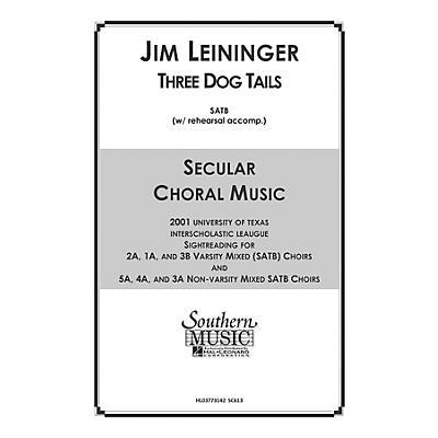 Hal Leonard Three Dog Tails (Choral Music/Octavo Secular Satb) SATB Composed by Leininger, Jim