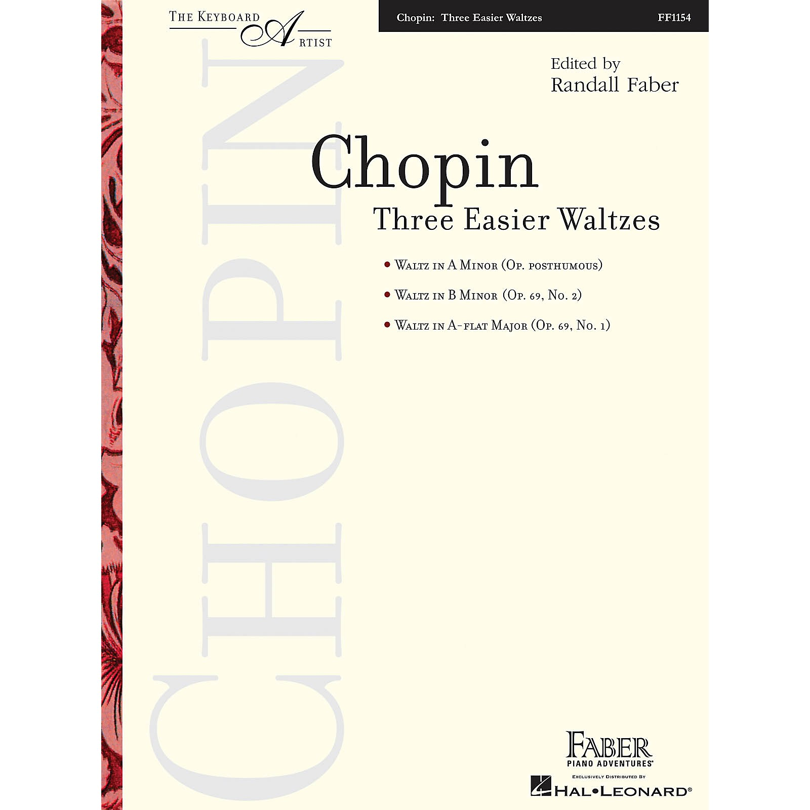 Faber Piano Adventures Three Easier Waltzes (The Keyboard Artist) Faber Piano Adventures Series Softcover by Frederic Chopin
