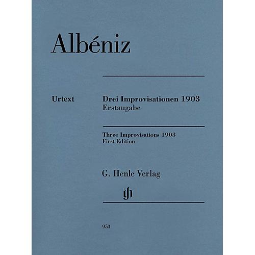 G. Henle Verlag Three Improvisations 1903 Henle Music BK/CD Composed by Isaac Albéniz Edited by Milton R. Laufer
