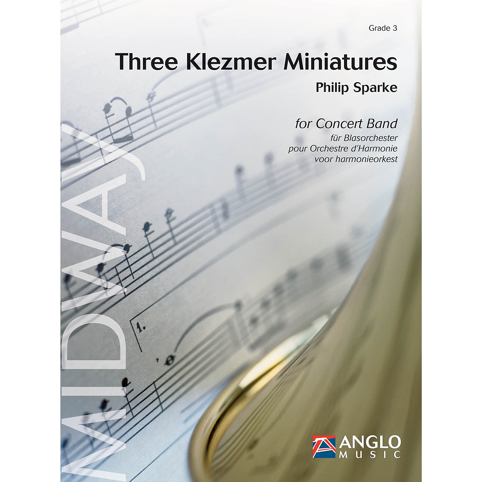 Anglo Music Press Three Klezmer Miniatures (Grade 4 - Score Only) Concert Band Level 4 Composed by Philip Sparke